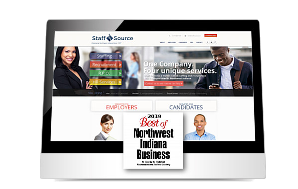 Staff Source home page on ipad