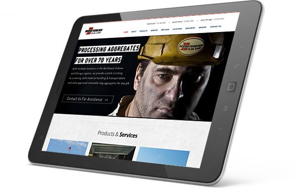 Beemcompanies website on iPad