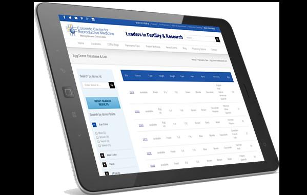 CCRM website on iPad