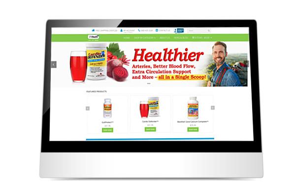 Effihealth website on iPad