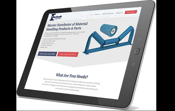 IdlerCraft website on iPad