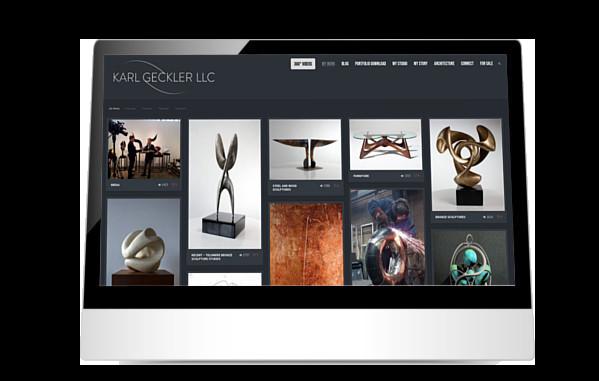 Karl Geckler website on iPad