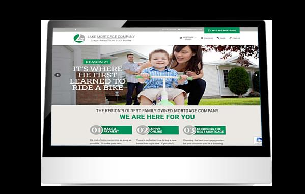 Lake Mortgage website on iPad