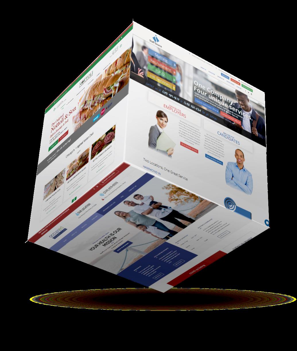 Elegrit websites on a cube