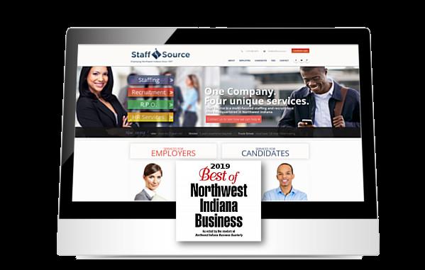 StaffSource website on ipad
