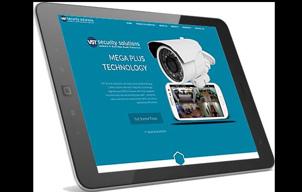 VST website on iPad