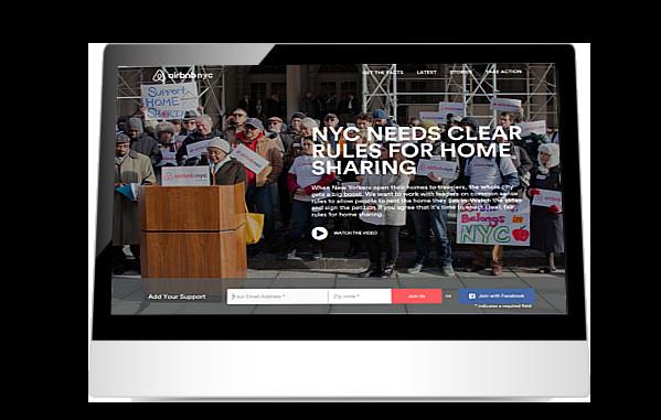 AirbnbNYC website on iPad