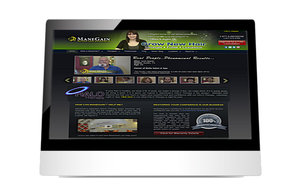 Manegain website on iPad