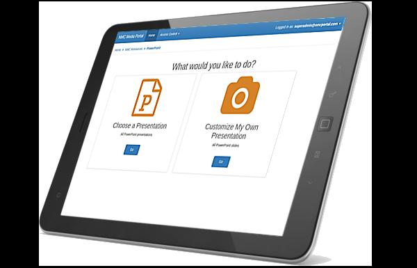 NMC web app on iPad