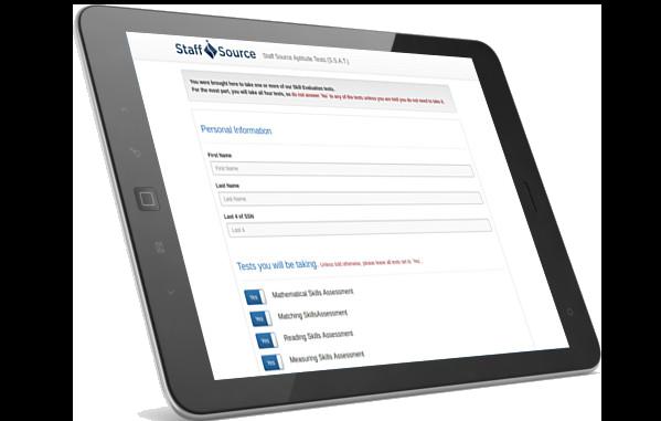 Staff Source app on iPad