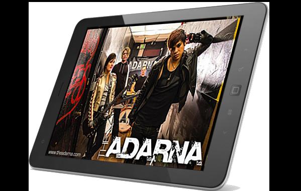 The Adarna website on ipad