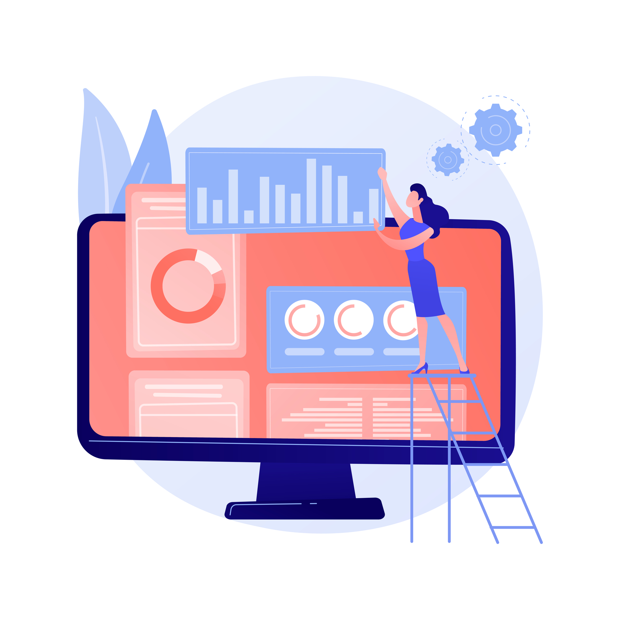 e-Commerce development illustration