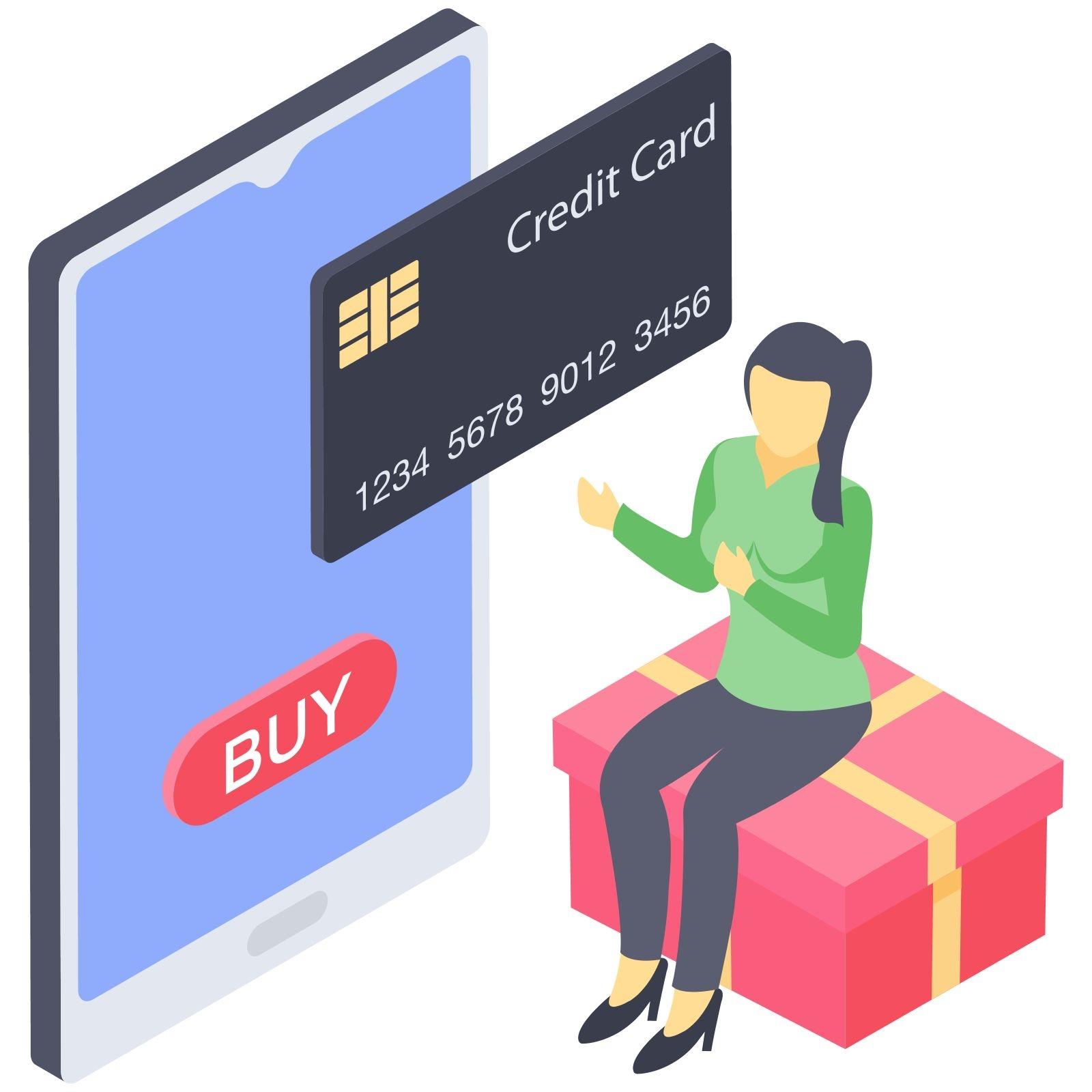 Online payment illustration