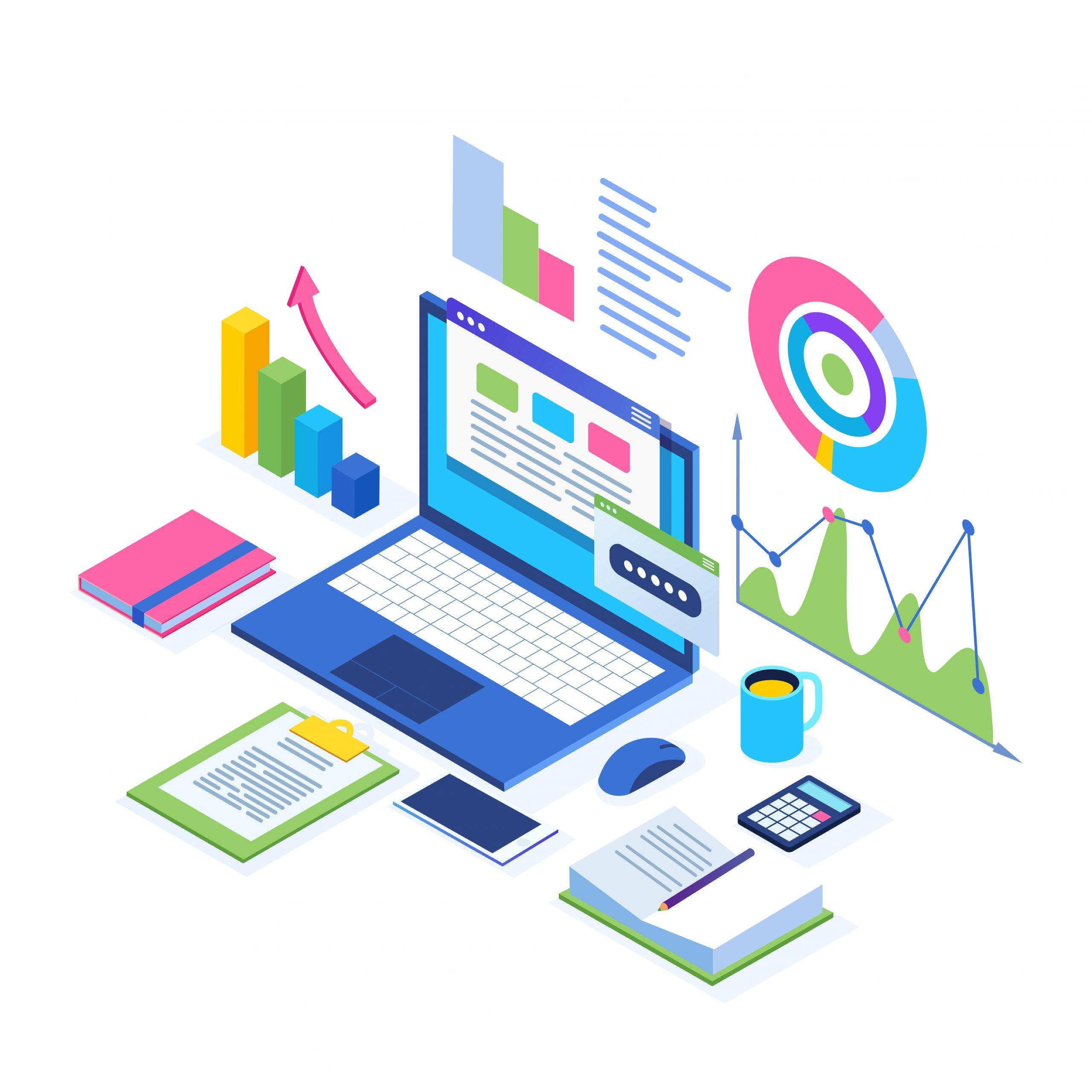 Data analysis. Digital financial reporting, seo, marketing. Busi